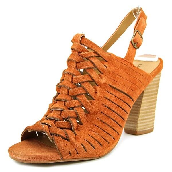 Lucky Brand Yvette Open-Toe Suede Slingback Sandal