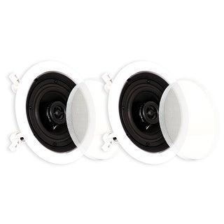 Theater Solutions CS4C In Ceiling Speakers Surround Sound Home Theater Pair