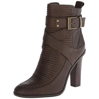 Rachel Zoe Womens Sanderson Ankle Boots Leather Stacked Heel