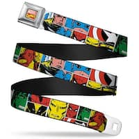 Marvel Comics Marvel Comics Logo Full Color Marvel Superhero Comic Blocks Seatbelt Belt