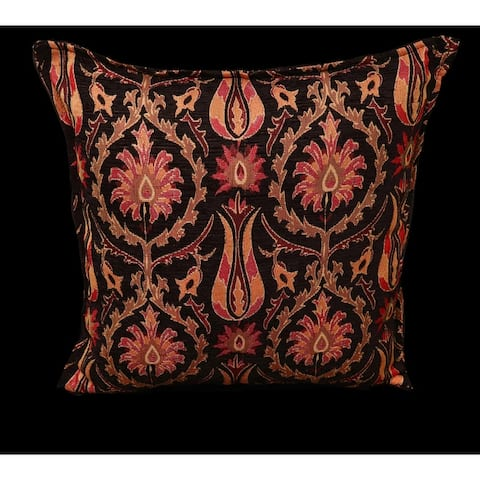 Suzani Tulip Chenille Turkish Decorative Pillow