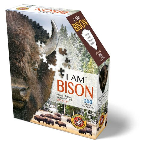 Madd Capp Puzzles - I AM Bison - 300 Pieces - Animal Shaped Jigsaw Puzzle
