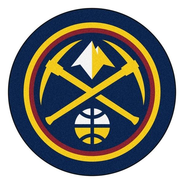 Shop NBA Denver Nuggets Mascot Novelty Logo Shaped Area Rug - Free ... 1480e799d
