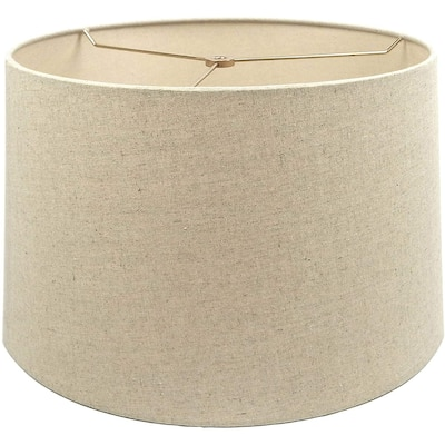 Mestar Oatmeal Fabric Hardback Drum Lampshade (Spider)