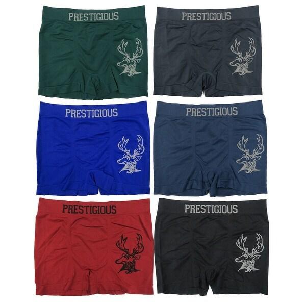 Men's 6-Pack Seamless Deer Print Boxer Briefs