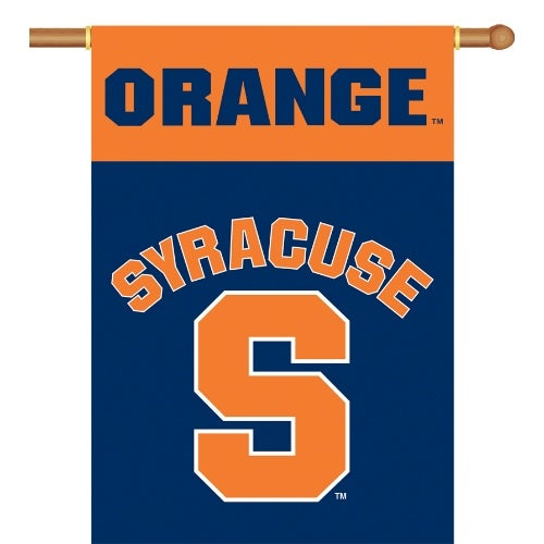 Bsi Products Inc Syracuse Orange 2-Sided Banner with Pole Sleeve Banner