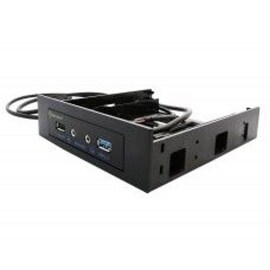 IOCrest Black USB 3.0 2-Port Support 3.5-inch/ 5.25-inch Bay GL888 Chipset Hug