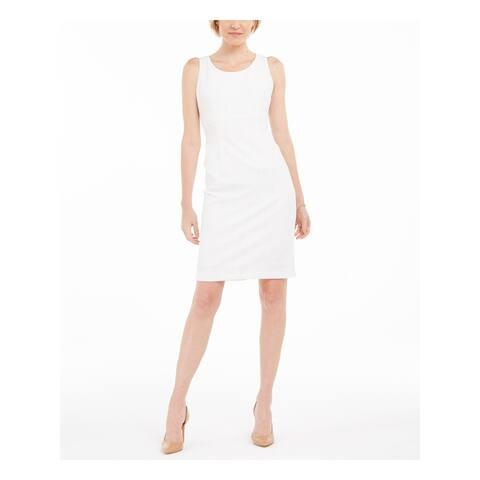 KASPER White Sleeveless Above The Knee Dress 14