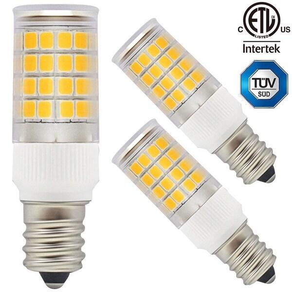 1-Pack/3-Pack ETL-listed 110V 3.5W LED E12 Light Bulb,350lm 2700K Warm White 360° Omni-directional E12 Base Bulb