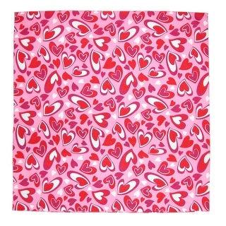 CTM® Heartfelt Valentines Day Bandana - Pink - One Size
