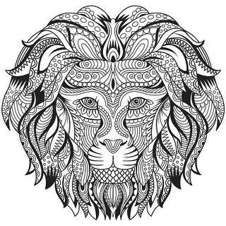 "Kaisercolour Coloring Poster 27""X19""-Lion"