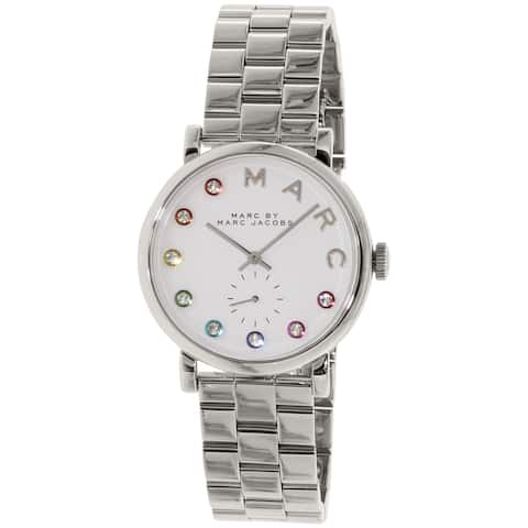 Marc by Marc Jacobs Women's Silver Stainless-Steel Quartz Fashion Watch