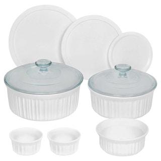 Corningware 1117223 Round Bakeware Set, 10 Piece, White