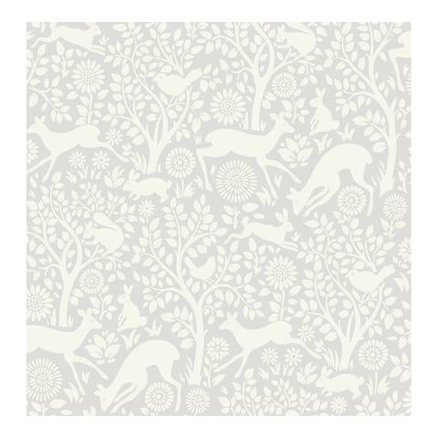 Grey Merriment Peel & Stick Wallpaper - 216in x 20.5in x 0.025in