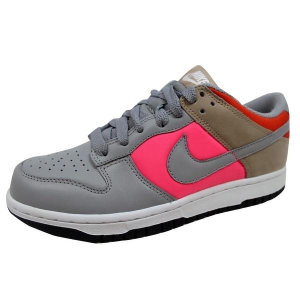 Nike Men's Dunk Low Medium Grey/Medium Grey-Laser Pink-Tweed 317813-001
