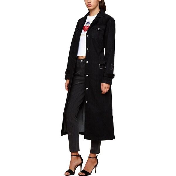 Shop Juicy Couture Black Label Womens Trench Coat Velvet