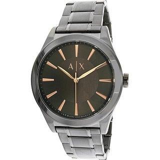 Armani Exchange Men's AX2330 Grey Stainless-Steel Plated Quartz Dress Watch
