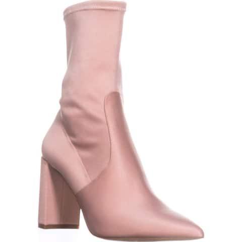 INC International Concepts Womens Savina Fabric Pointed Toe Ankle Fashion Boots