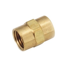 AMC 1/8 Coupling Ylw Brass