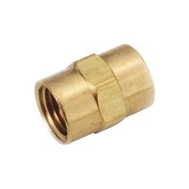AMC 3/8 Coupling Ylw Brass