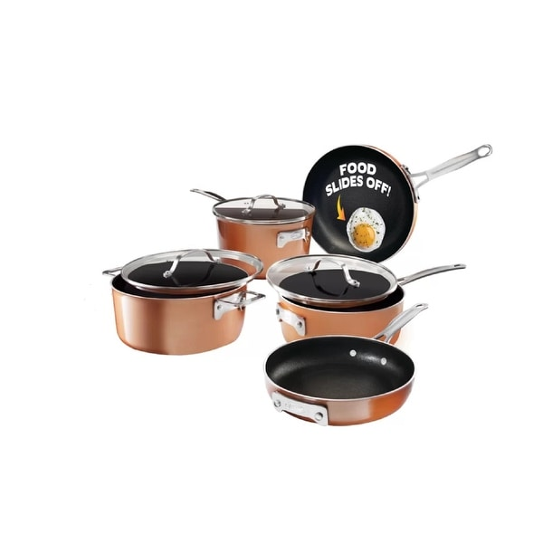 Gotham Steel Stackmaster Non-Stick Stackable 8-piece Cookware Set