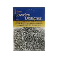 Darice JD Seed Bead 11/0 Metallic Steel