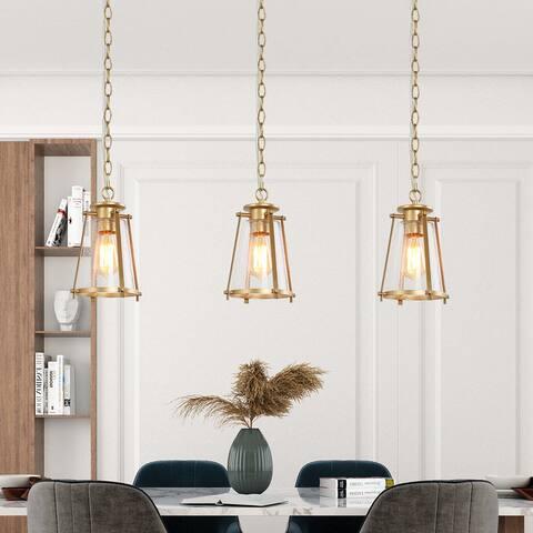 "Glam Gold Mini Pendant Lighting for Kitchen Island Dining Room Living Room - W 7.5""x H 11"""