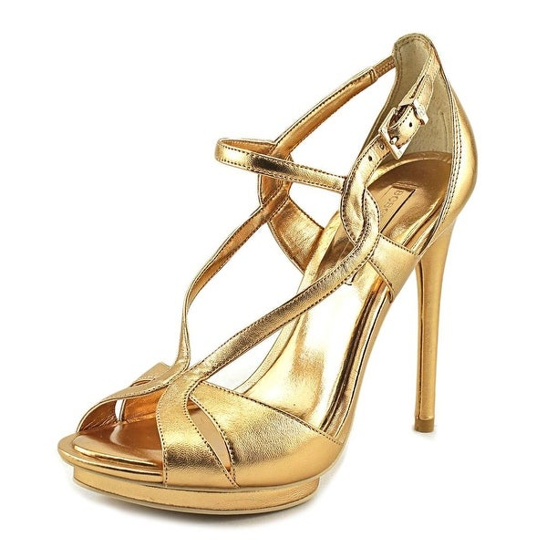 BCBG Max Azria Farid Women Gold Dust Sandals
