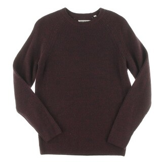 Ben Sherman Mens Pullover Sweater Ribbed Knit Wool Blend