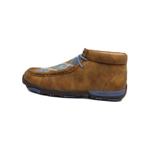 Twister Casual Shoes Boys Charlie Chukka Lace Tan Denim