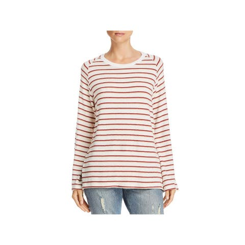 LNA Clothing Womens Pullover Sweater Striped Bell Sleeves Beige S