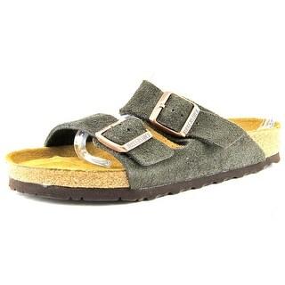 Birkenstock Arizona Women Open Toe Suede Brown Slides Sandal