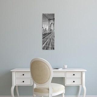 Easy Art Prints Panoramic Images's 'Brooklyn Bridge Manhattan New York City NY USA' Premium Canvas Art