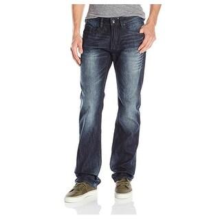"Buffalo David Bitton Six-X Slim Straight Blue Jeans Size 40"" W x 32"" L"