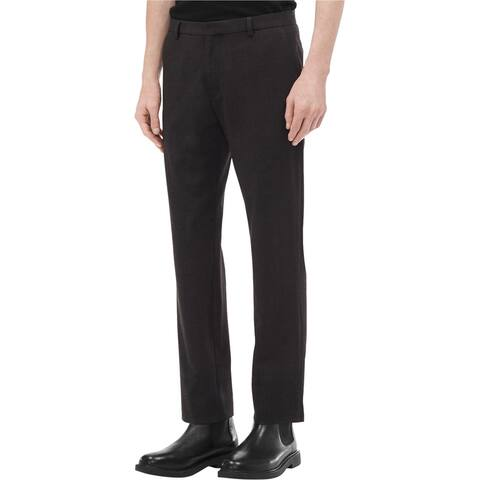 Calvin Klein Mens Plaid Slim-Fit Dress Pants Slacks