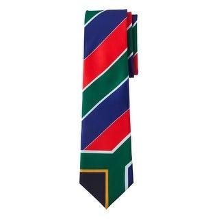Jacob Alexander South Africa Country Flag Colors Men's Necktie - Red Green Blue Diagonal Stripe Design