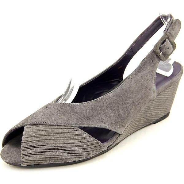 Vaneli Wilda Women N/S Peep-Toe Suede Slingback Heel