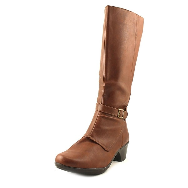 Easy Street Jan Wide Calf Tan Boots