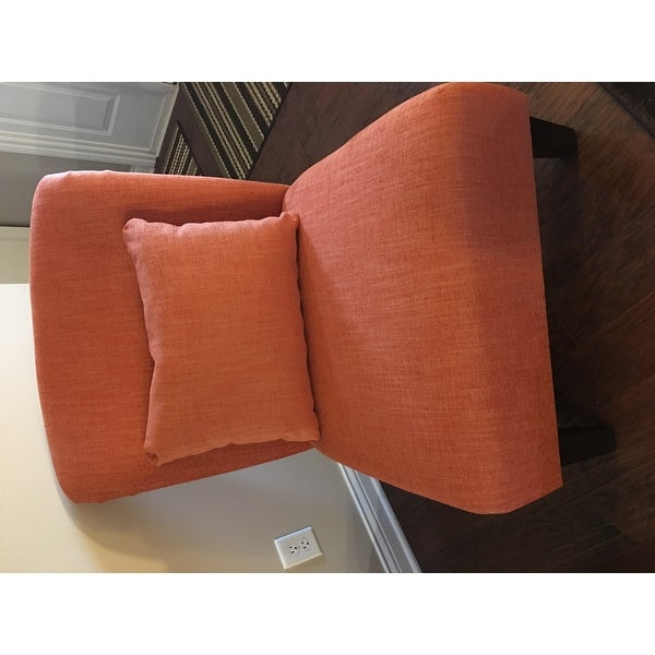 anna fiesta orange accent chair free shipping today