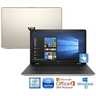 """HP 15-bs014cy Core i3-7100 2TB HDD 15.6"""" HD Touch Screen Laptop with Office 365 - silk gold"""