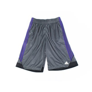 Adidas NEW Gray Purple Mens Size Small S Athletic Stripe Climacool Shorts 115