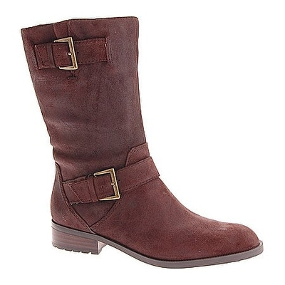 Enzo Angiolini Women's Side Motorcycle Mid Calf Boots - 10