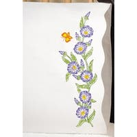 """Stamped Pillowcase Pair For Embroidery 20""""X30""""-Morning Glories"""