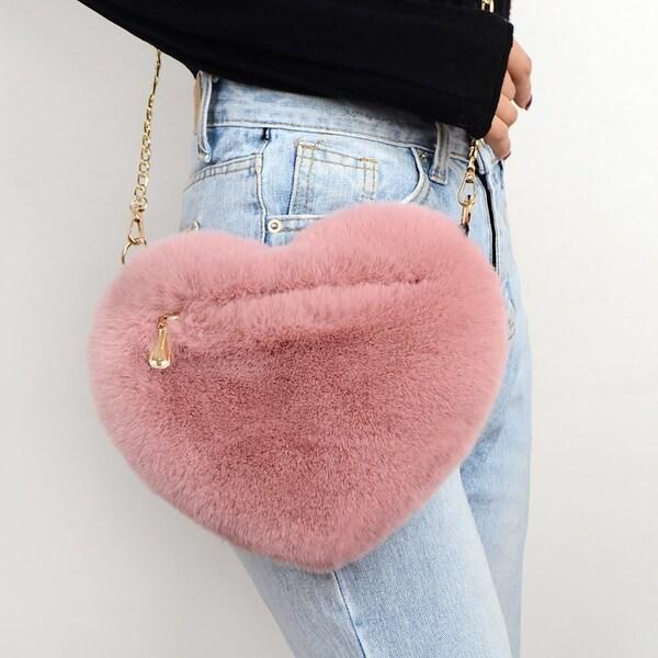 Womens Heart Shape PU Leather Shoulder Bags,Cross Body Bag Waist Bag