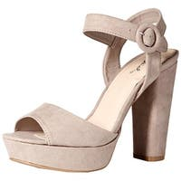 Qupid Women's Platform Heeled Sandal