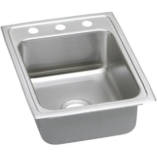 "Elkay LRAD172240 Gourmet 17"" Single Basin Drop In Stainless Steel Bar Sink"