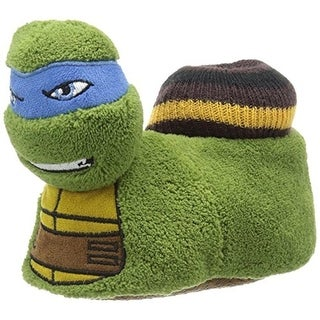 Nickelodeon Boys Ninja Turtle Polyester Novelty Slippers - S