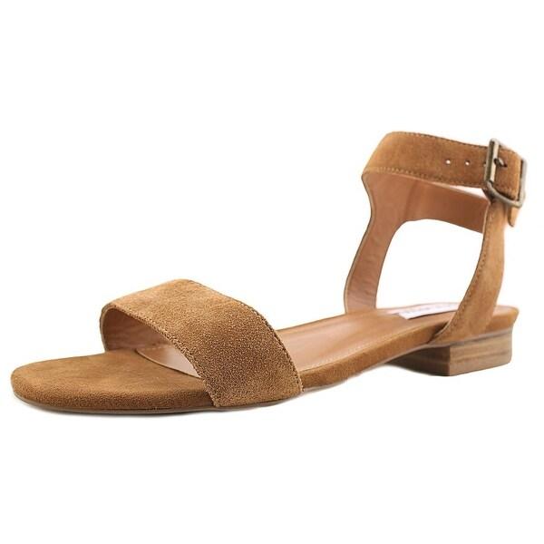 Steve Madden Rusette Women Open Toe Suede Brown Sandals
