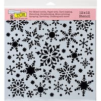 "Crafter's Workshop Template 12""X12""-Snowflakes"