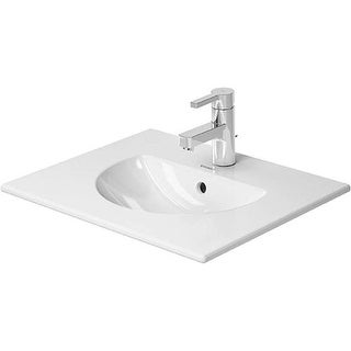 """Duravit 499530000 Darling New 20-7/8"""" Ceramic Bathroom Sink for Vanity or Wall Mounted Installations with Single Faucet Hole"""